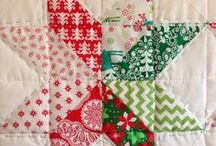 Christmas Quilts / Christmas quilts seem like a luxury to me. But a purposeful one! Made to proclaim the joy of the season, to decorate, and of course, keep one cozy, too.