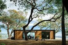 Amazing architecture in the woods / A eclectic collection of architecture in the woods.