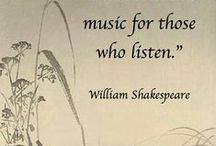 """Listen to the MUSIC (Videos) / """"The earth has MUSIC for those who listen."""" ...William Shakespeare   """"If MUSIC be the food of love, play on.""""...William Shakespeare """"Without Music, life would be a mistake""""...Nietzsche  / by Donna Beley"""