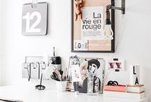 Office Spaces / Feminine office inspiration for the creative entrepreneur who works from home, revamp yo workspace girl!