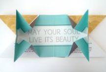 Origami and print / Origami pour vos cartes de voeux, invitation, plan, effet pop-up