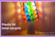 Plastic lids upcycle ideas / by Jill @ Creating to Success