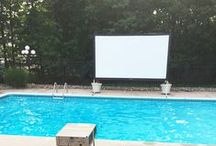 Outdoor Home Theaters / Turn your backyard into the envy of your neighborhood. Outdoor home theaters inspiration, set up and tips for the ultimate backyard entertaining.
