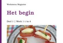 Weekmenu Magazine. / Weekmenu Magazine is een nieuw magazine van 24 bladzijdes op A5 vol met tips, adviezen 4 weekmenu's met smakelijke recepten. Zo is afvallen voor iedereen haalbaar!