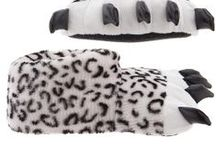 Animal Paw Slippers for Men and Women / These animal paw slippers are great for hanging around the house and keeping your feet warm and cozy. / by Crazy For Bargains Pajamas