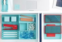 Office Inspiration / Work in color for your best organized office / by The Container Store
