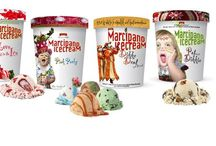 Marcipano organic icecream with a swirl of Marzipan