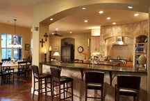 Favs for kitchen and greatrooms / Kitchen ideas, countertops, cabinets and stoves