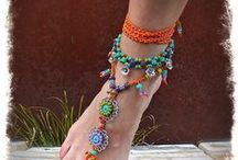 Fancy Jandals & Feet Accessories / Ways to dress up bare feet or Jandals aka Flip Flops;  Thongs; Pushons or Go Forwards :-)