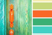 Colour combinations / Colour schemes that grab my eye! The brighter colours are meant mainly for fashion accessories.  I would only use the pastel shades for walls, ceilings and exterior painting.