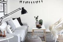 Black and white flat /appartement noir et blanc / des idées déco pour appartement black and white