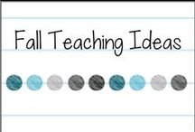 Fall Teaching Ideas / Teaching ideas for the primary classroom for fall holidays, September, October, November