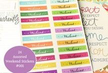 iSmooch Planner Shop / Personalized Planner Stickers and Tabs. Come to visit my shop: http://ismoochplanner.etsy.com