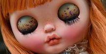 *Blythe DIY* / Custom Blythe, face, eye-chips, hair.