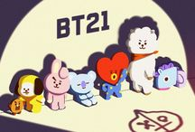 BT21 / Love is scatter in seven pieces that reunite them self