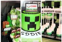 Minecraft Birthday Party / #Minecraft is the hottest birthday party right now.  Add the Game On! Mobile Video Game Theater and you've got the best birthday ever!  We bring the Ultimate Gaming experience right to your front door! Our luxury, limo-style theater on wheels features 7 widescreen high-definition TVs, surround sound and multiplayer gaming excitement! Best birthday party, corporate event, or school event idea in Tri-Cities, WA. www.gameontricities.com