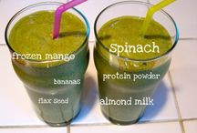 Green smoothies and juices / Healthy green smoothies for a healthier lifestyle. Best way to kick start your day :)