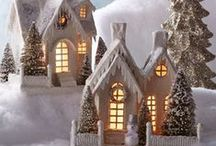 Christmas winter town
