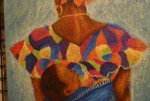 ARTE AFRICANO:  MAGUETTE MBODJ / Pintura Africana