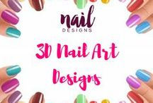 3D Nail Art Designs / 2D nails are now old and boring. Take your nails to a whole new level. Experience 3D in your fingertips.