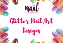 Glitter Nail Art Designs / Add some sparkle in your life. Fingernail glitters is more than fine.