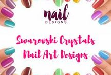 Swarovski Crystal Nail Art Designs / Embellish your nails not with the ordinary but only Swarovski. Find many inspirations here.