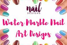 Water Marble Nail Art Designs / Be inspired with our water marble nails inspiration for your next nail art project.