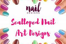 Scalloped Nail Art Designs / Try something new yet equally wonderful. Check out our varied scalloped nail inspiration.