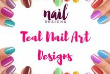 Teal Nail Art Designs / Exude confidence and sophistication in your nails. Paint it with teal today.