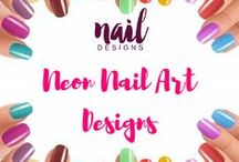 Neon Nail Art Designs / Add some oomph to your nails and brighten it more with these neon nail art designs.