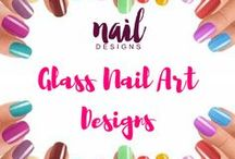 Glass Nail Art Designs / Make your nails truly jaw-dropping with this glass nail art design inspiration.