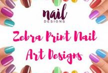 Zebra Nail Art Designs / Animal prints are exciting. Here are a lot of zebra nail art and be inspired.