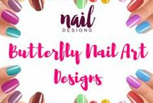 Butterfly Nail Art Designs / Let your nails fly with these nail art based on butterfly.