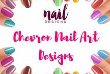 Chevron Nail Art Designs / Add some fun in your nails with these chevron nail art.
