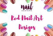 Red Nail Art Designs / Be feisty with these red nail inspiration.