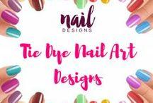 Tie Dye Nail Art Designs / Here's to varied tie dye nail art design inspiration.