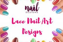 Lace Nail Art Designs / In love with sheer and lace? Show it in your nails with these nail art designs.