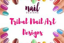 Tribal Nail Art Designs / Summer is here. One way to be in the season with be to paint your nails tribal.