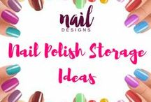 Nail Polish Storage / Your nail polishes adding up? Here's how you can easily organize them.