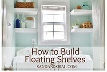 DIY Shelves & Decor / Bookshelves and home decor that you can make yourself. #woodworking #bookshelves
