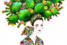 Cactus ilustrados
