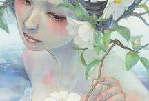 Ellas entre las Flores