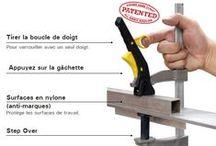 Serre-joint et étau / Serre-joint ou étau pour le bridage, serrage de tôle, tube, pièce en bois.
