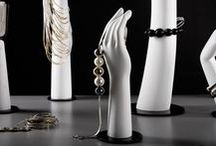 HANDS & LEGS DISPLAYS / A wide range of male and female display hands. They are designed to show; watches, bracelets, gloves, rings etc. Our hands are made of fibreglass or wood. Wooden hands have articulated fingers which give endless possibilities to present your accessories.
