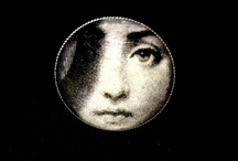 Film noir liquid glass brooch / Film noir   vintage  liquid glass brooches by   Renatas Art.