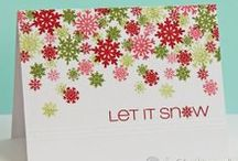 CASFridays: Snowflake Greetings / Beautiful snowflakes and classic snowy sentiments.