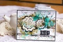 Loving Thoughts / Bold, graphic flowers with stunning sentiments. 4 x 6 clear stamps $15.00  www.cas-ualfridaysstamps.com