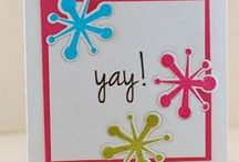 CASFridays: Exclamations / An exciting set of trendy sentiments, and fun shapes to celebrate special moments.