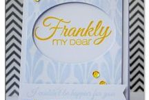 CASFridays: Frankly / We all know how Rhett finished his sentence, but frankly my dear, who would want to receive a card that said that? This set, inspired by my all-time favorite movie, has several alternative endings to this iconic phrase starter that will delight both the cardmaker and card recipient.
