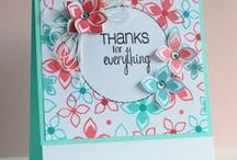CASFridays: Wallflower / Pretty flowers and wonderful sentiments you'll be able to use for everyday cards all year long.  Designed to coordinate with our Christmas Carols and 4 Petal Fri-Dies.  Available at www.cas-ualfridaysstamps.com or visit our Retailers tab on our website to find it at a store near you.